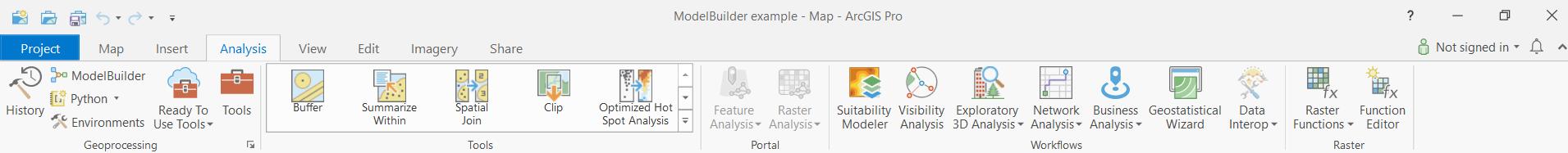 Where to find ModelBuilder tab