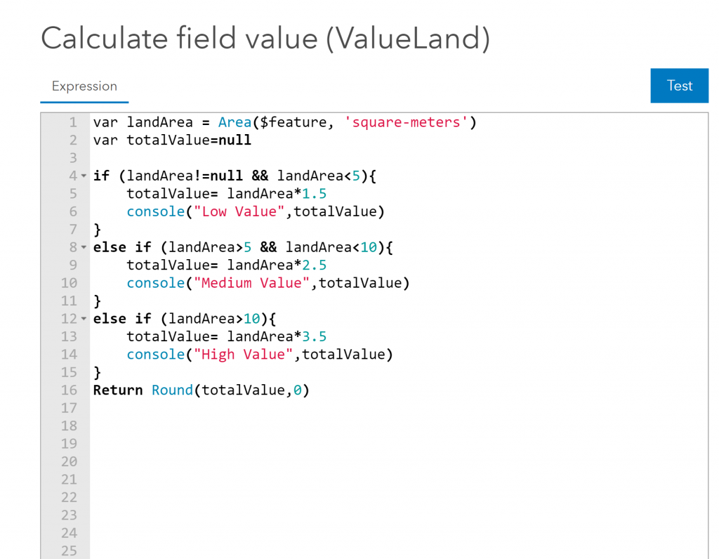 Console function being used in an attribute calculation