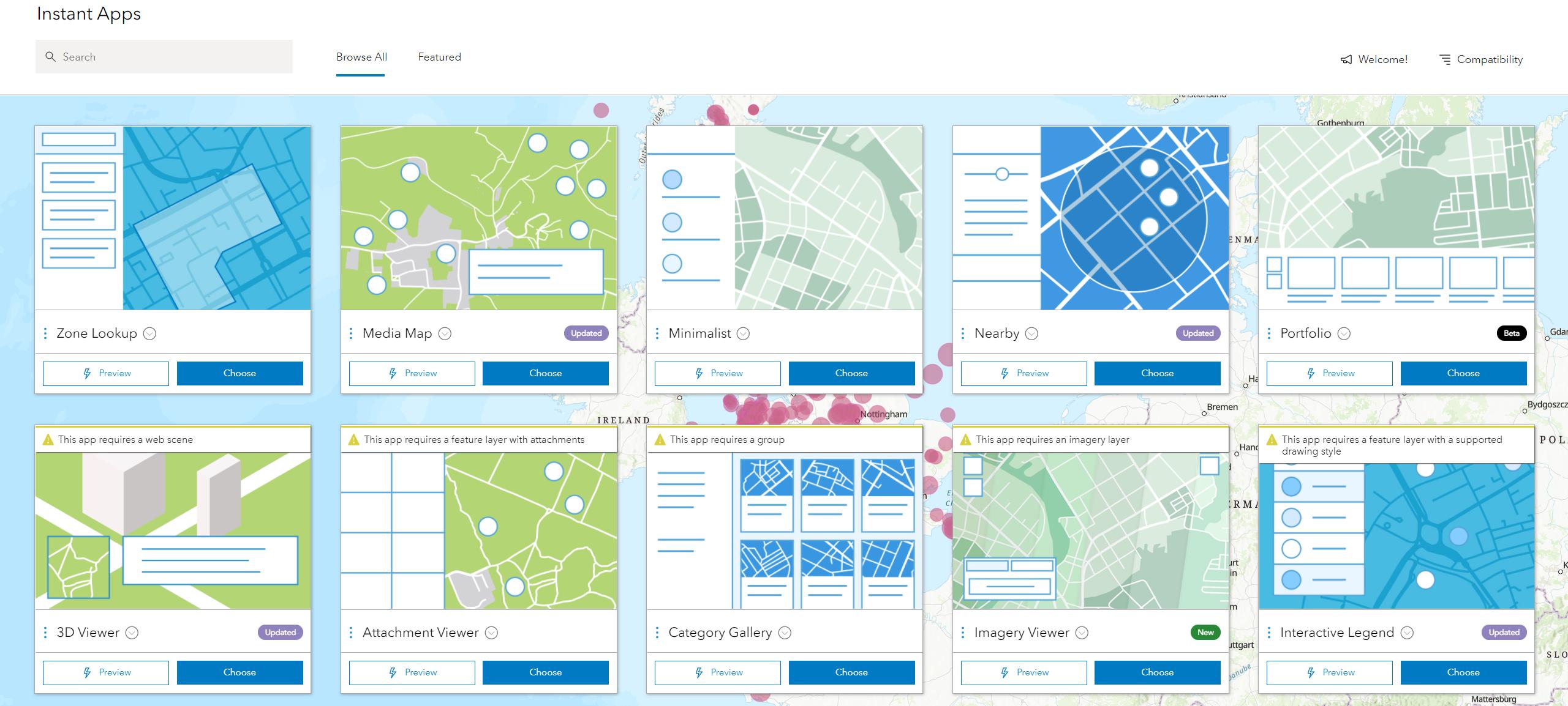 ArcGIS Online Instant Apps