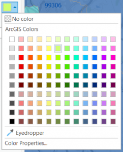 Eyedropper tool on the color palate dialog