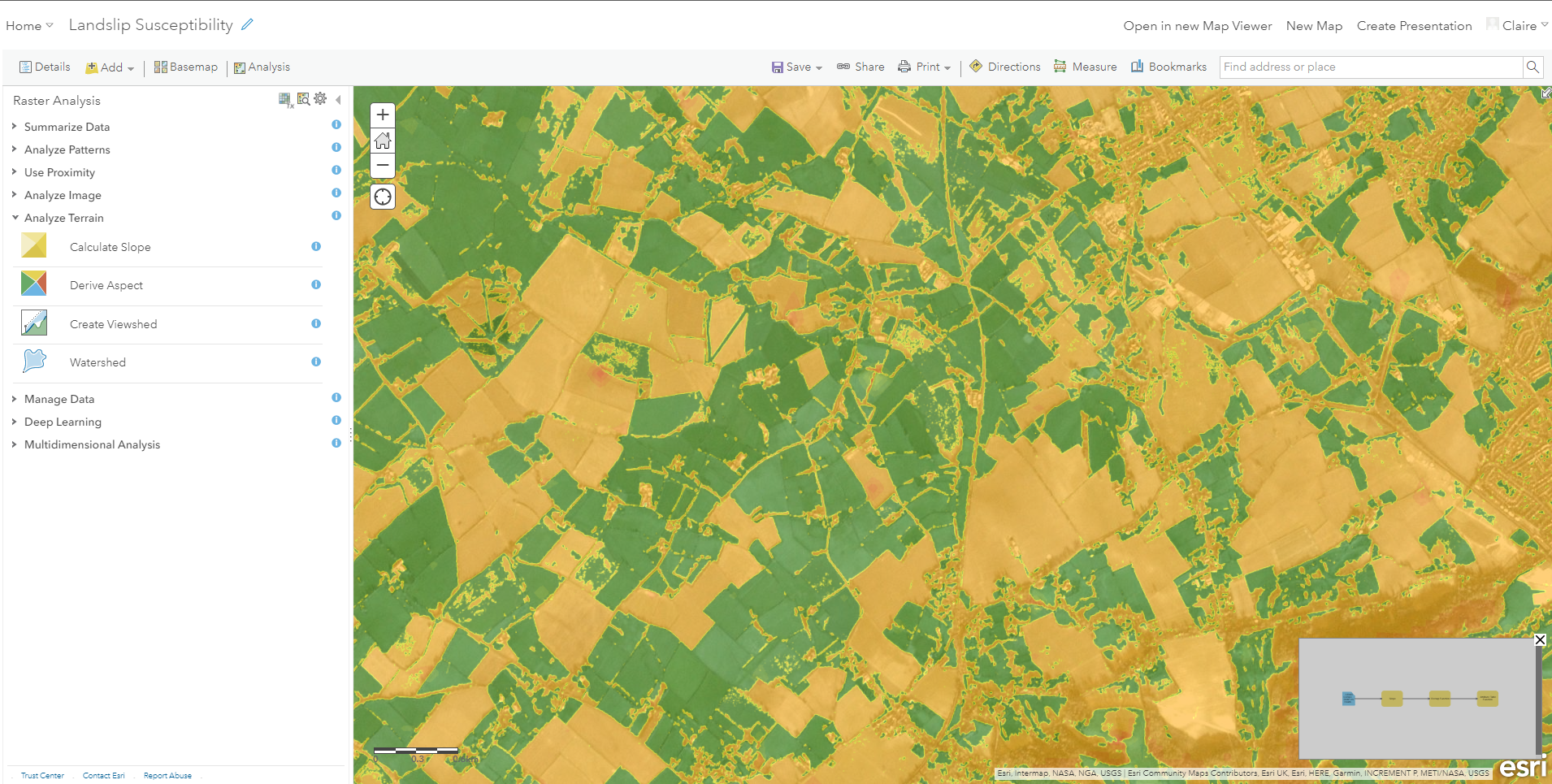 ArcGIS Image for ArcGIS Online analysis tools
