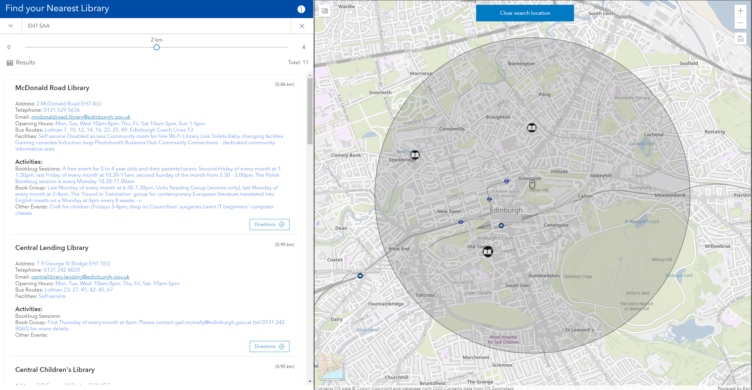 Example of an engagement app using Find My Nearest
