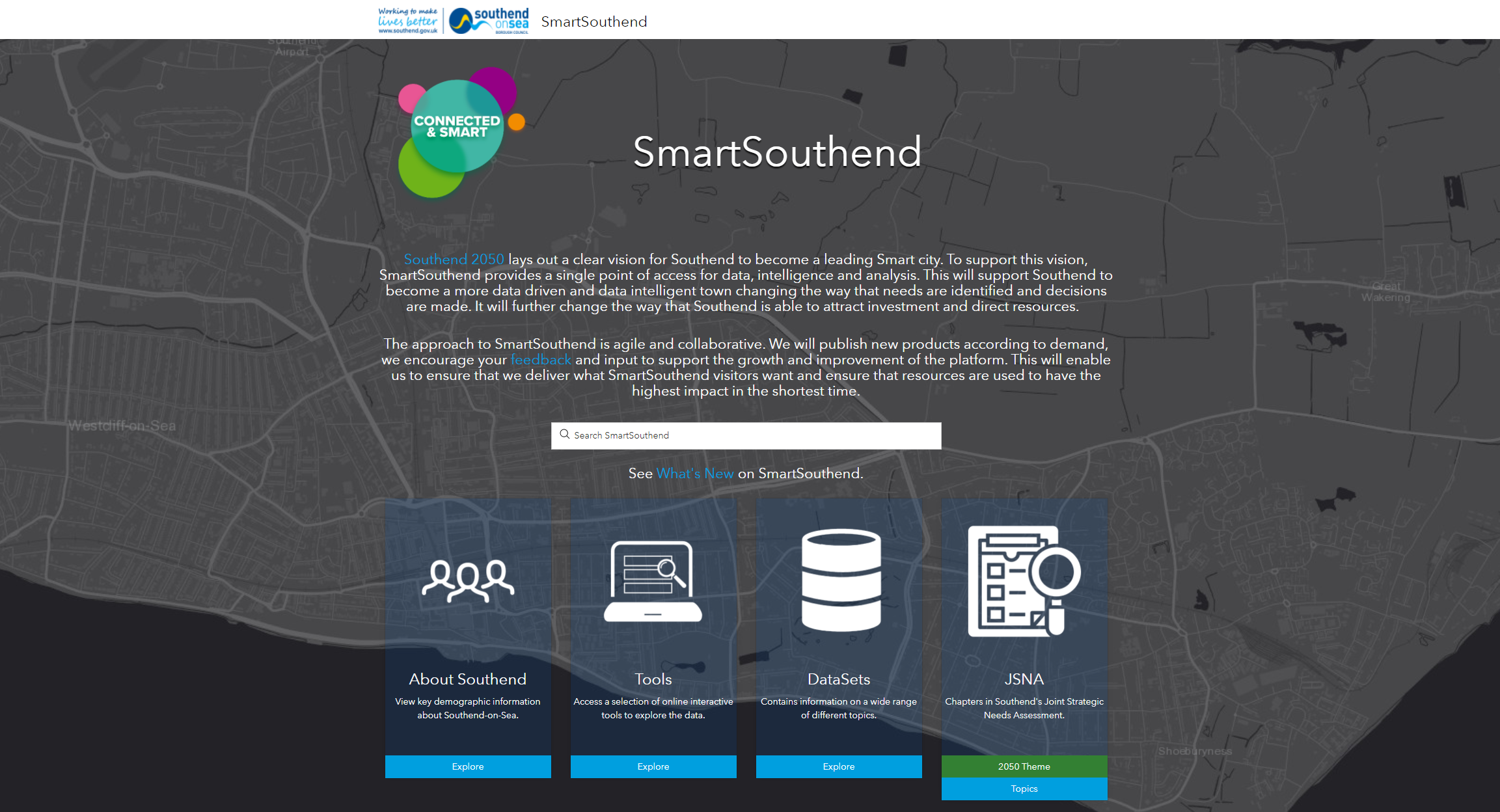 Example of an Open Data portal built with ArcGIS