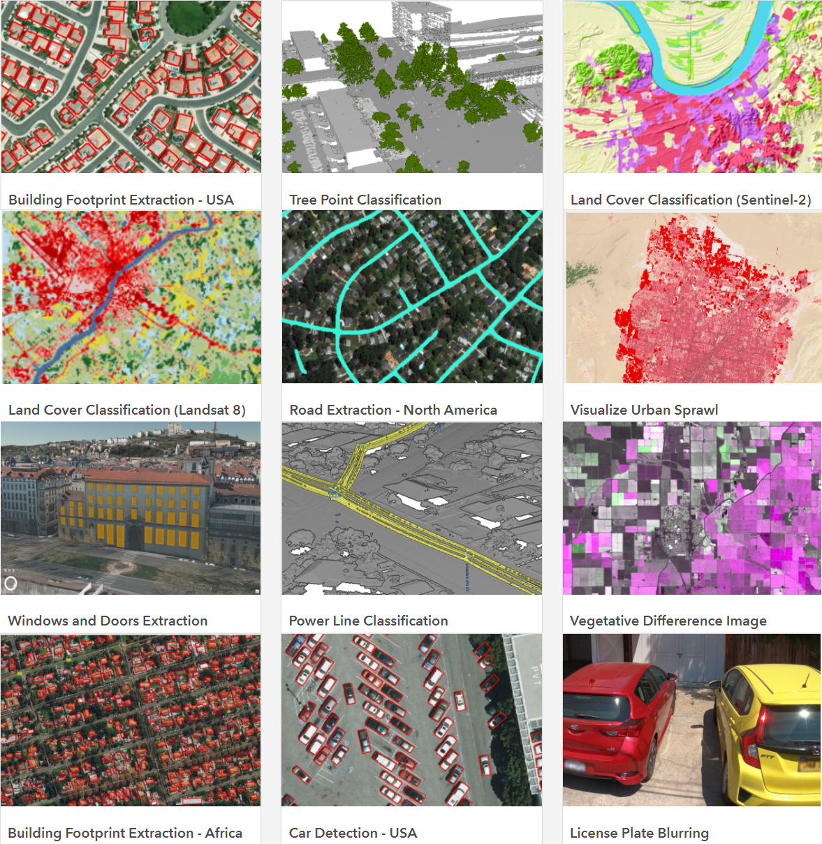 Machine Learning models in the ArcGIS Living Atlas