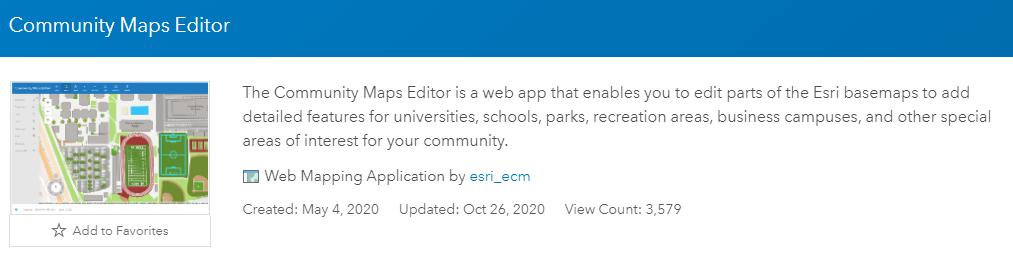 Image of the community map editor web app