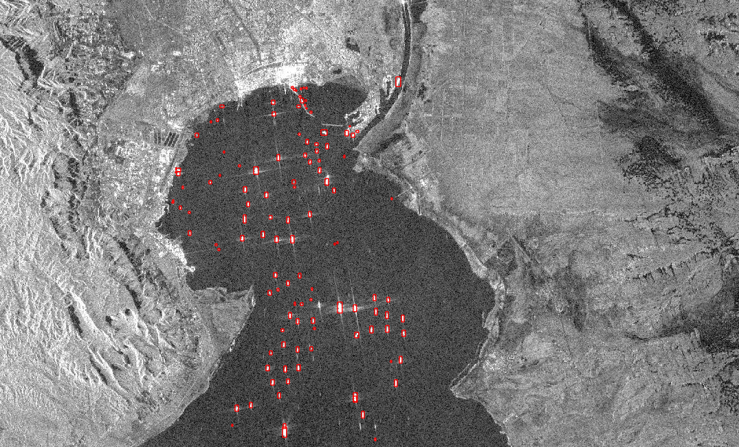 Ship detection deep learning model using SAR data in the Suez Canal.