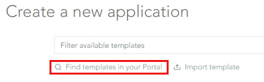 Find templates in your portal