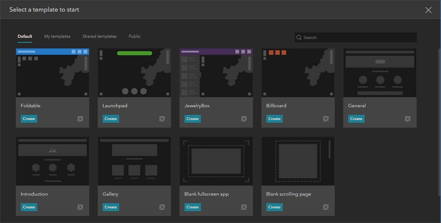 Experience Builder templates
