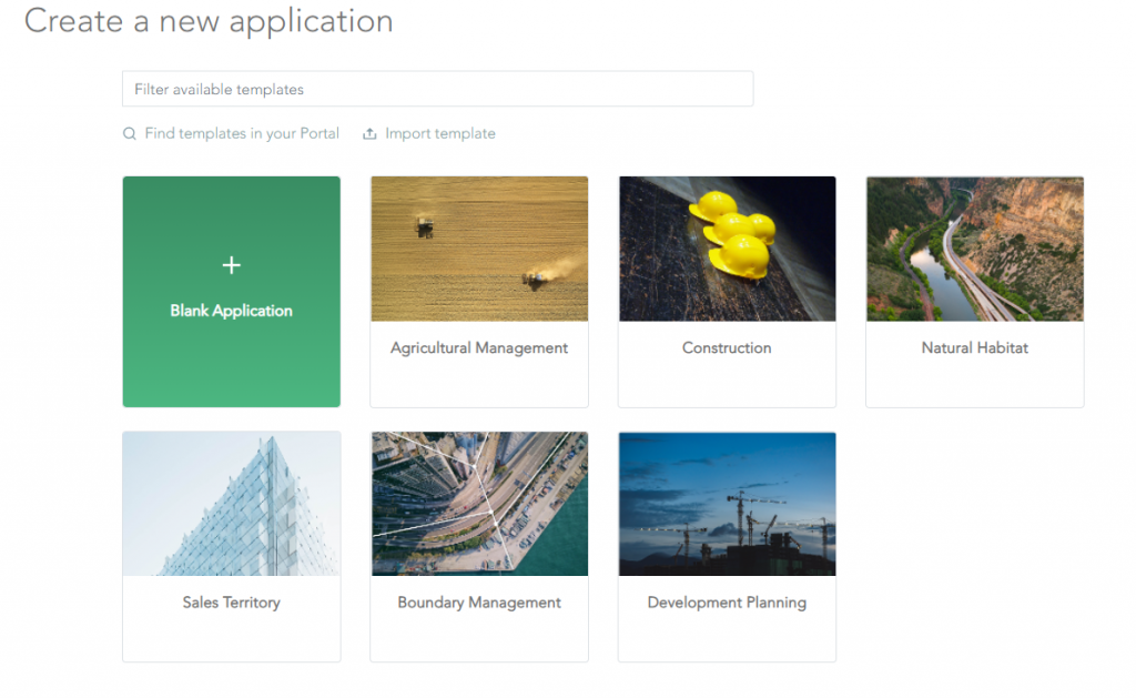 Template Gallery for Sweet for ArcGIS