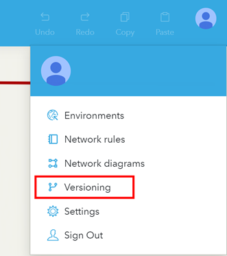 Versioning configured in the right hand panel