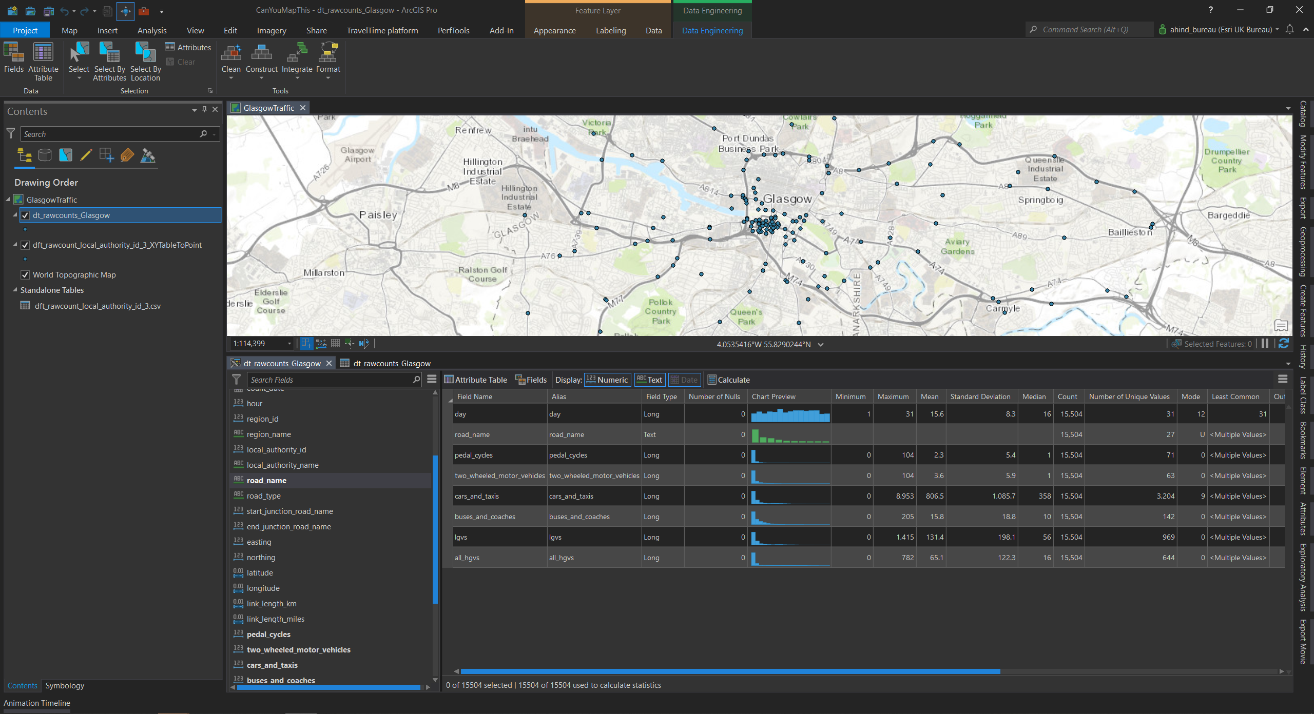 The new Data Engineering view in ArcGIS Pro